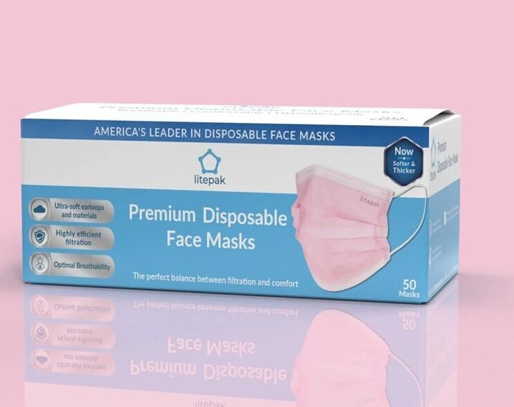 PREMIUM Pink Non-Medical Disposable Masks