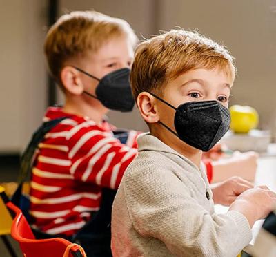 Kids Black KN95 Disposable Face Mask