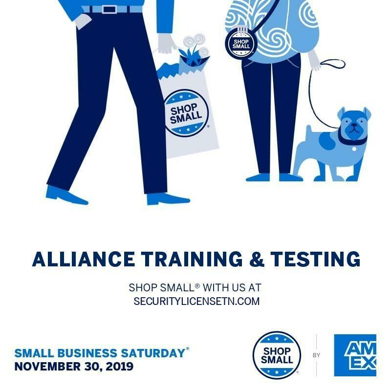 #SmallBiz Sale Unarmed Security License Training Class Nashville TN Reservation Fee