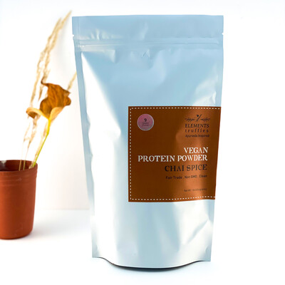 Ayurvedic Vegan Protein Powder with Immunity Boosting Chai Spice