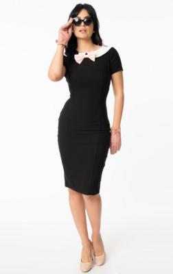 UV 1960s collar Plaza wiggle dress