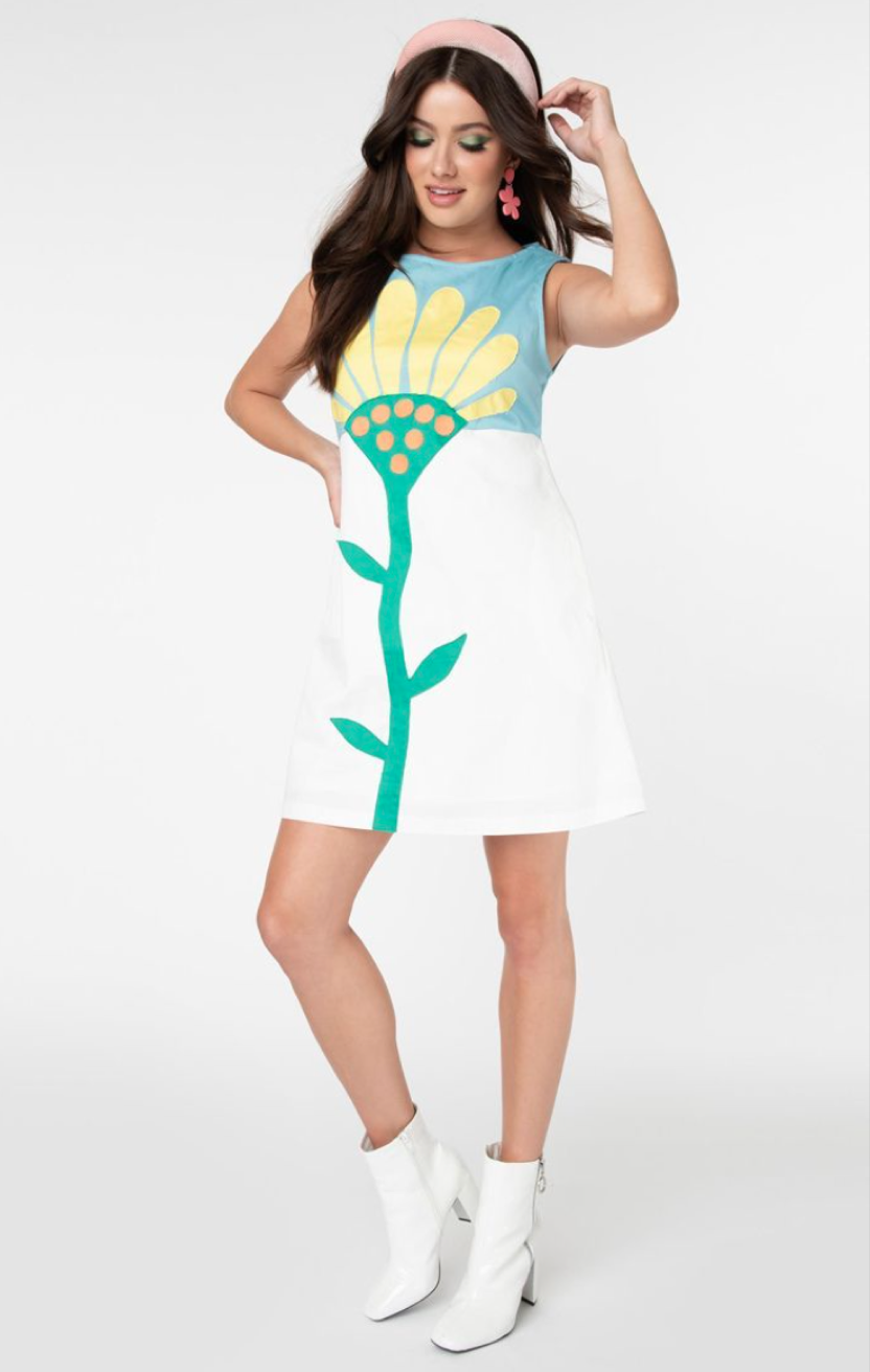 UV Smak Parlour 1960S Flower power dress