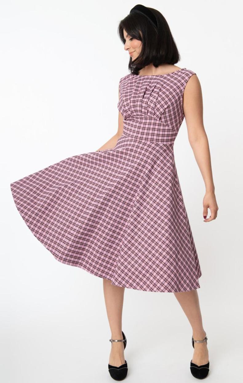 UV 1950S Monaco swing dress