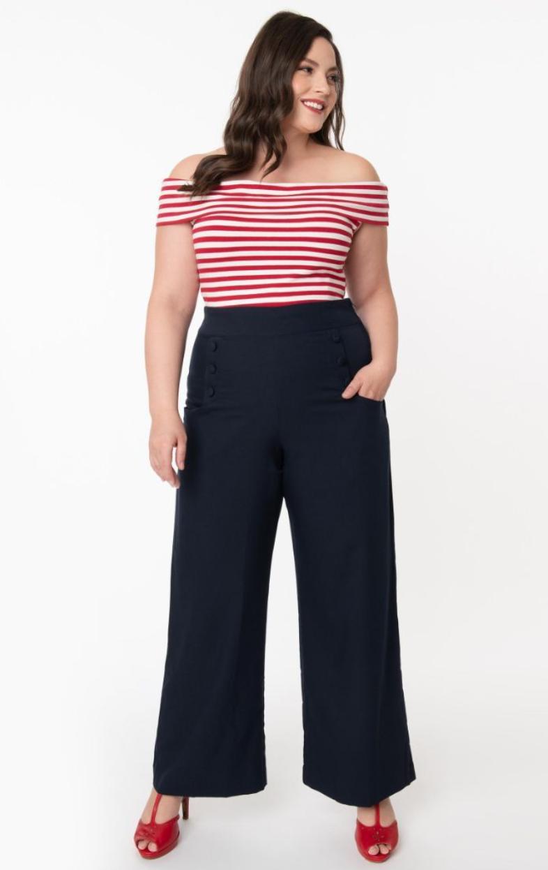 UV High Waist Sailor Ginger Pants