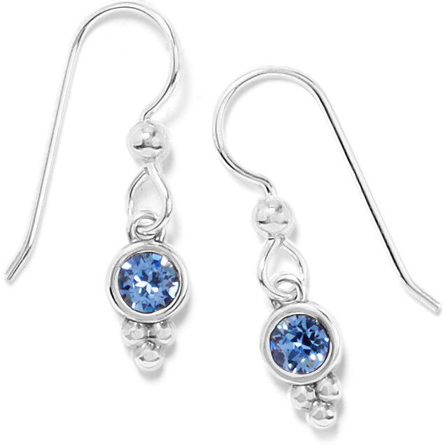 Brighton Color Drops Blue Fr wire earring
