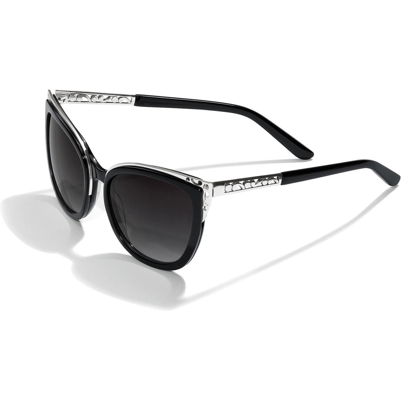 Brighton Contempt Ice Blk/Sil Sunglasses