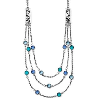 Brighton Elora gems blues layer necklace