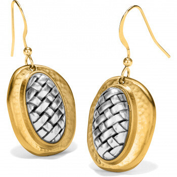 Brighton ferrara artisan 2 tone french wire earring