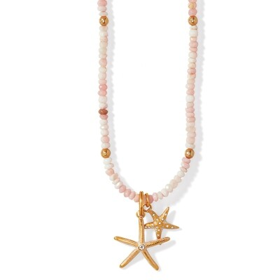 Brighton Paradise Cove Pink Opal shell necklace