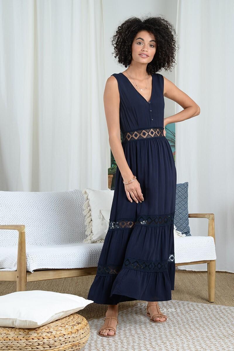MB Lace pannel skirt maxi dress