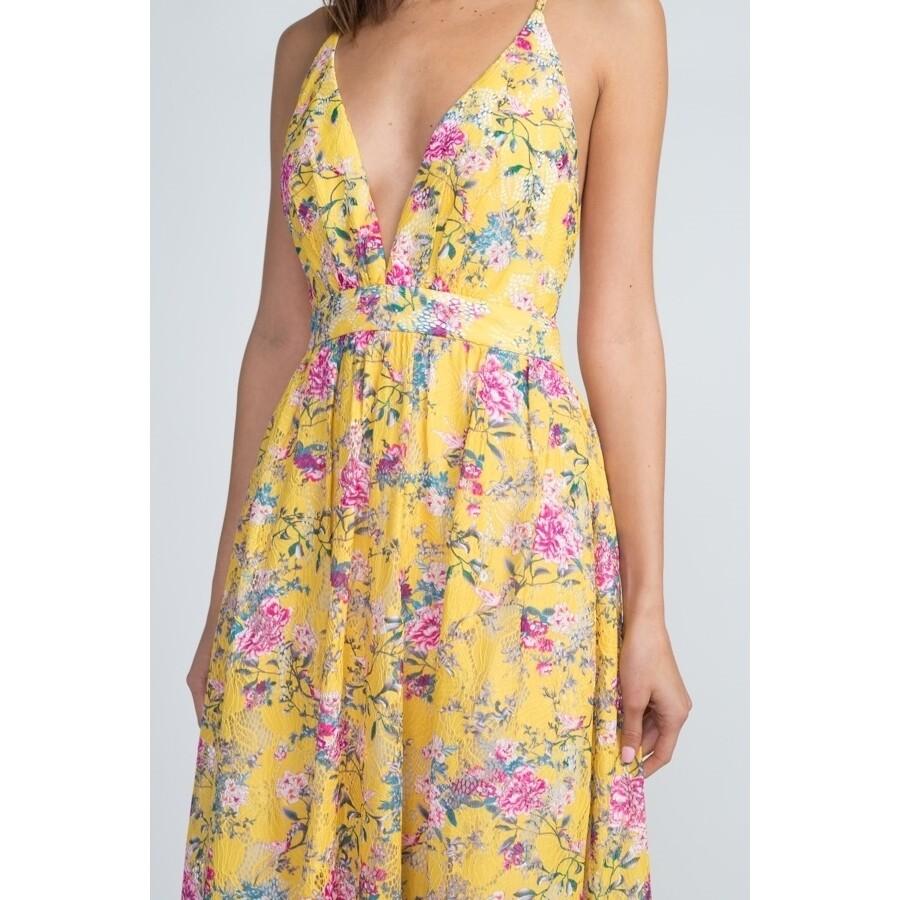Minuet flowered maxi dress