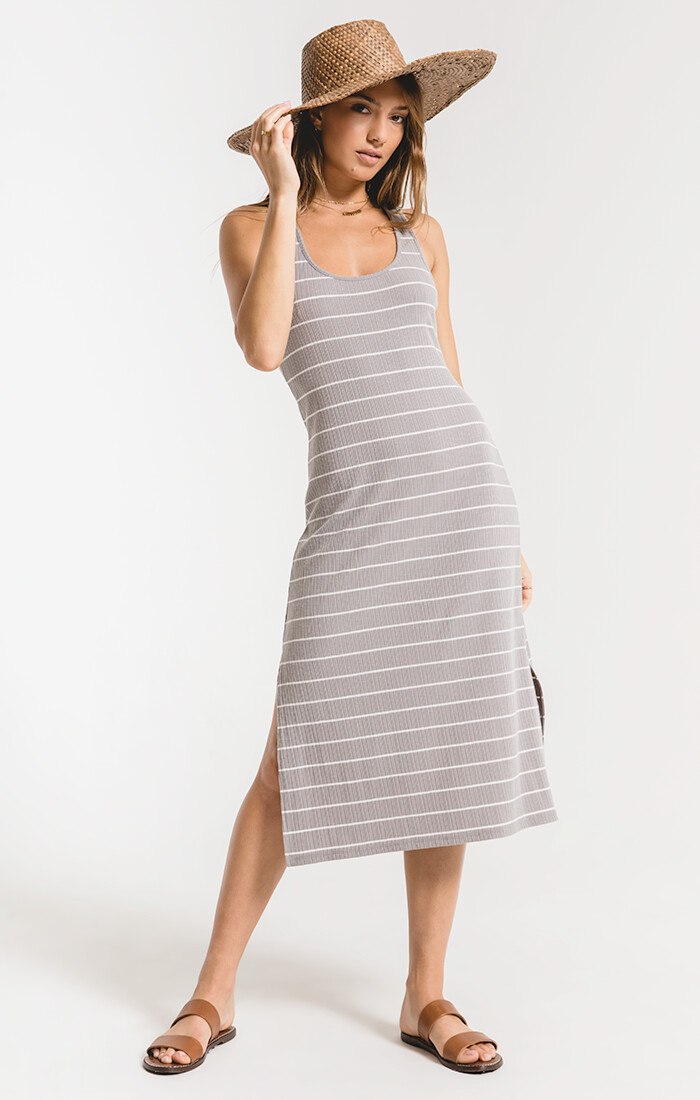 ZS The seri stripe rib tank dress