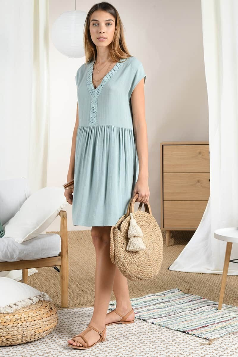 MB Straight silhouette slightly gathered Dress