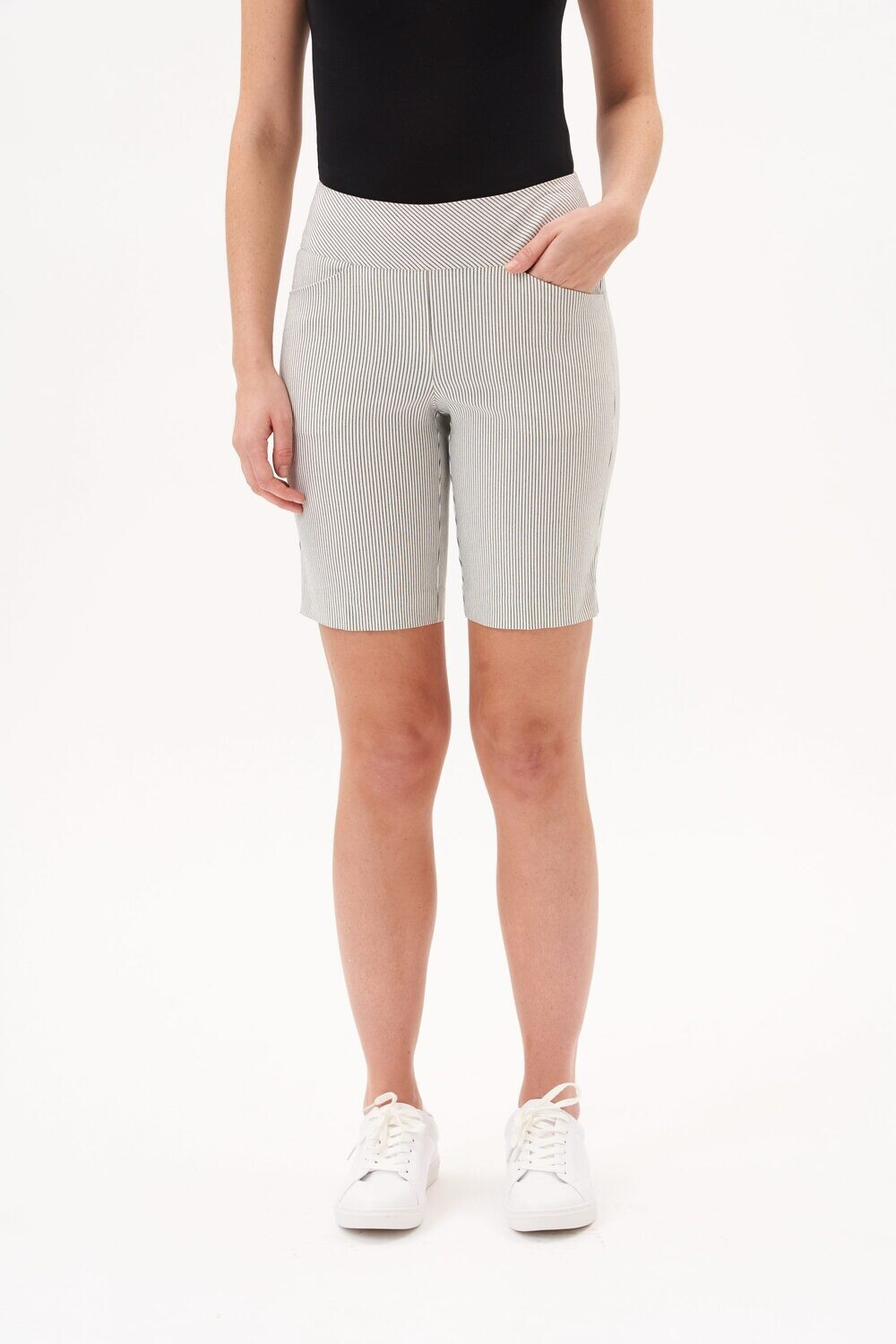 UP Striped modern short 9 inch pant