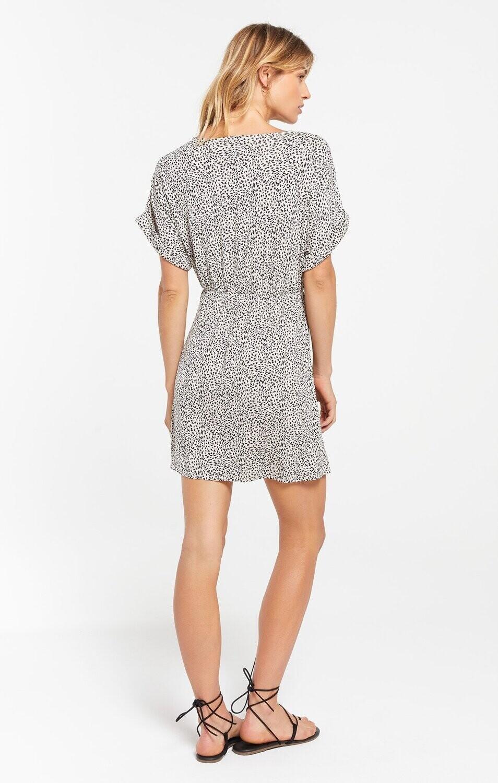 ZS mini Leopard wrap dress
