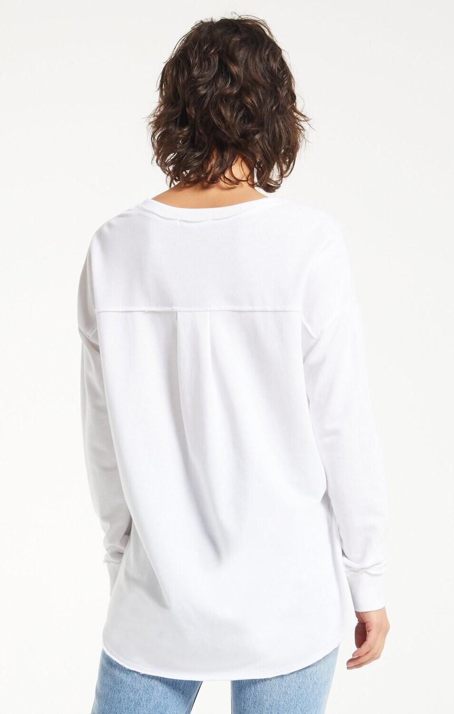ZS V-neck Weekender -White