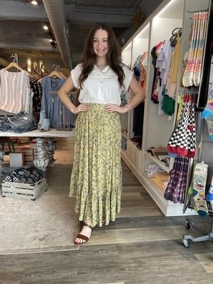 Easel floral long skirt
