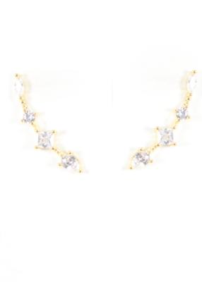 BB lila climber earrings