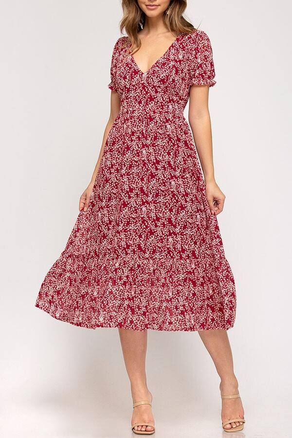 S&S Short sleeve midi dress