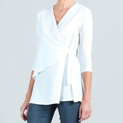 CSW V-neck Faux Wrap Tunic