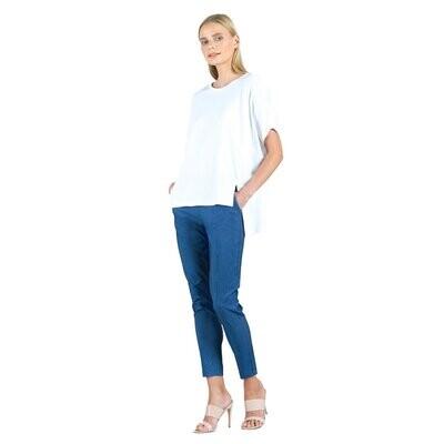 CSW Cotton Modal 1/2 sleeve hi-low tunic