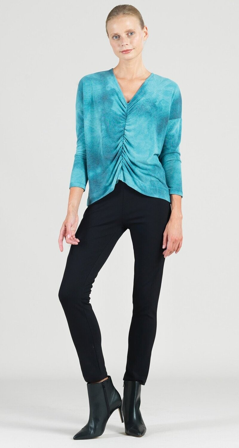 CSW Center ruched cozy knit loose top