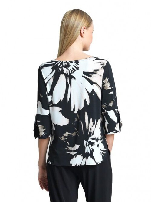 CSW Floral print  knit scoop top