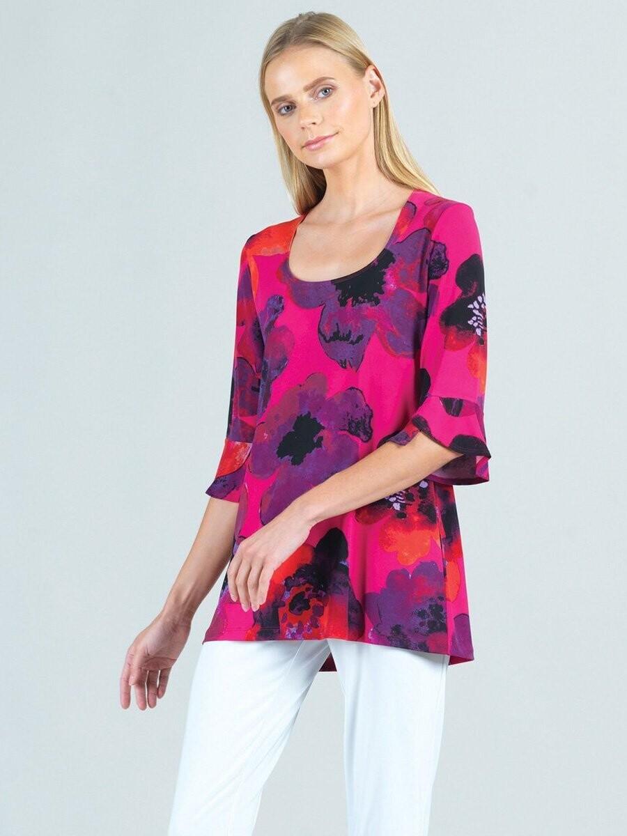 CSW Poppy Print Soft Knit Tunic