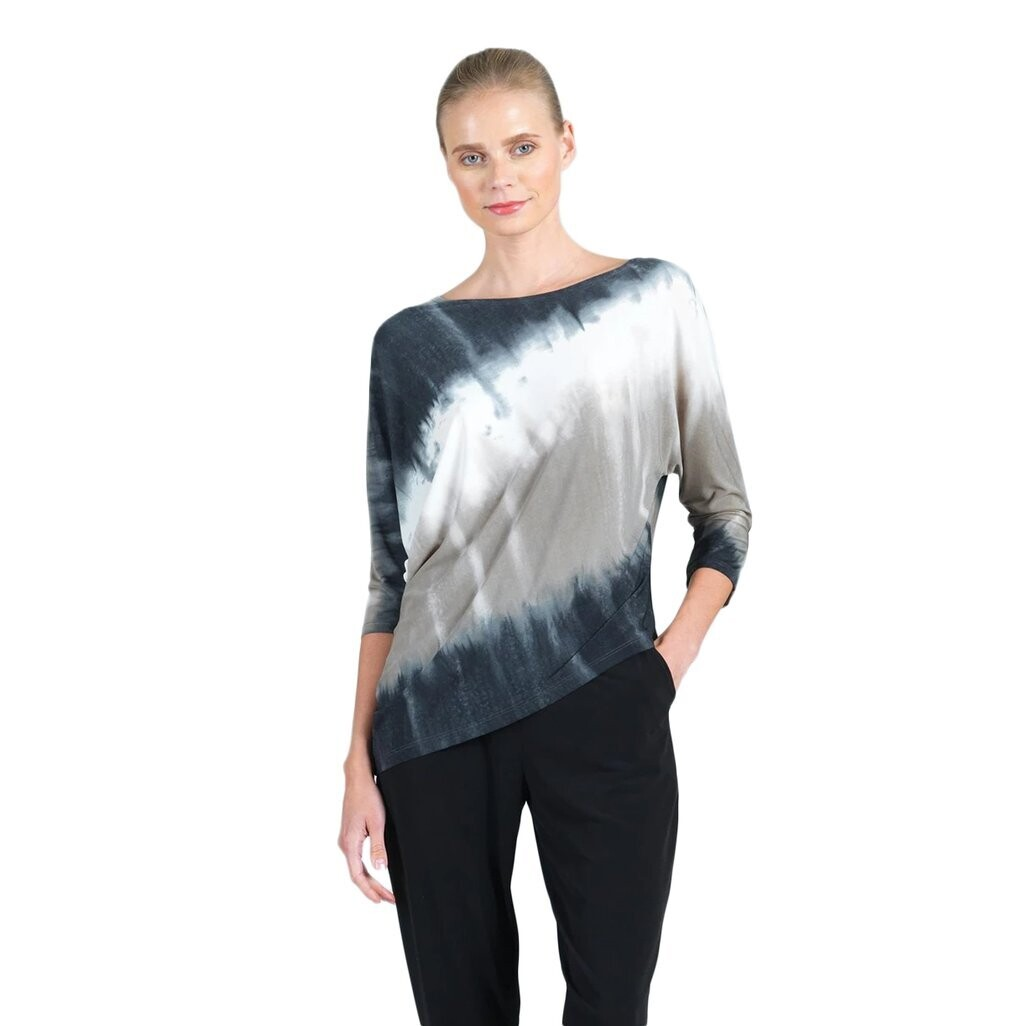 CSW Ombre soft knit angle hem top