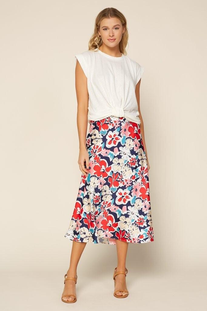 SRB Floral satin skirt