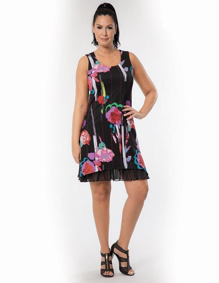 Bali Sleeveless color splash dress