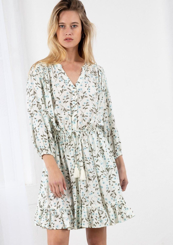 LS 3/4 Sleeve button down dress