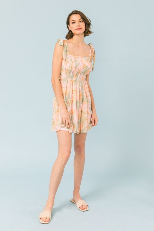 Flying Tomato Printed woven A-line dress