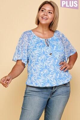 Short Sleeve Mesh Tropical shirt