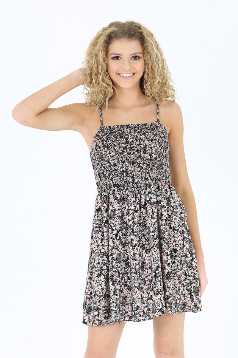 Angie Smocked Bodice Circle Skirt dress