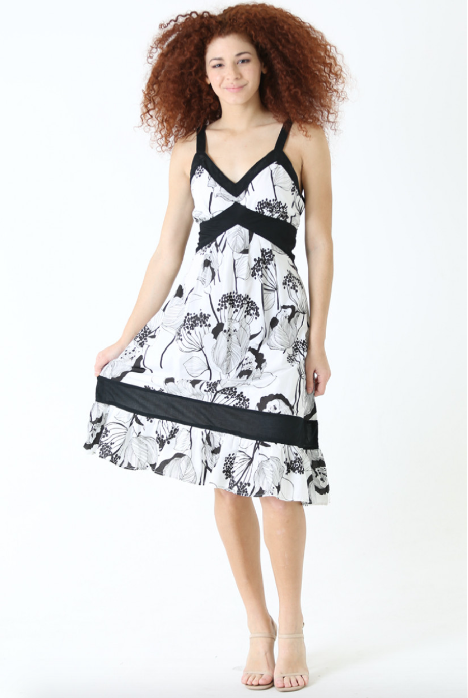 Angie B&W Sun dress