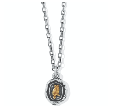 Brighton Ferrara Virtue Owl Pendant Necklace