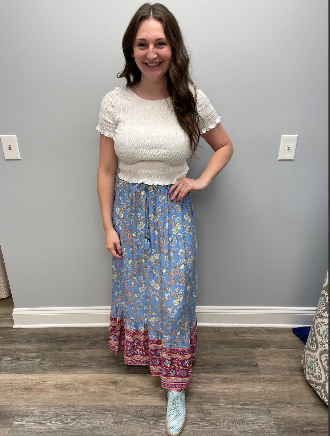 SundayUp bohemian drawstring skirt