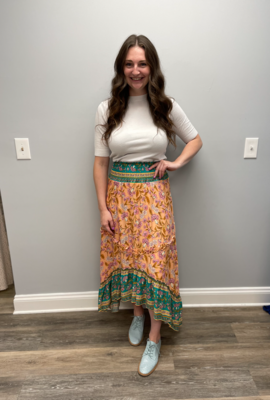 SundayUp Floral print bohemian style skirt