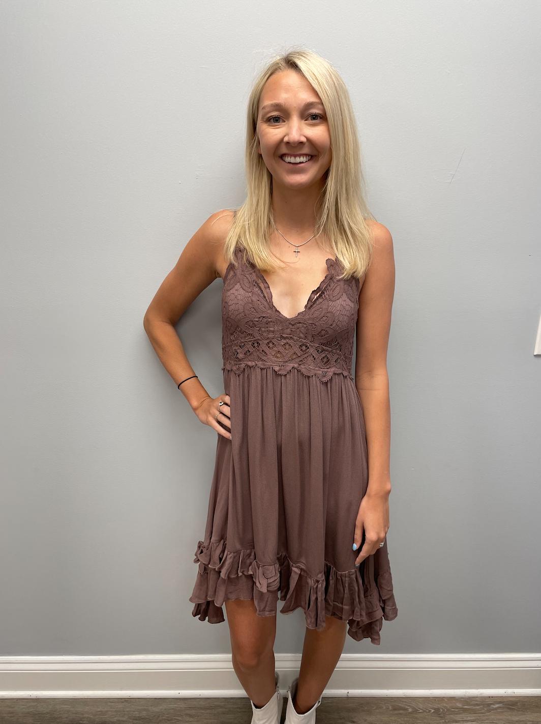 LA Miel Boho crochet lace dress