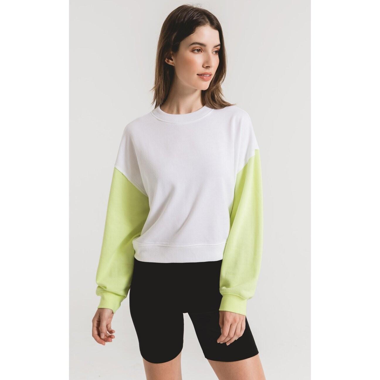 ZS The color block sweatshirt neon lime