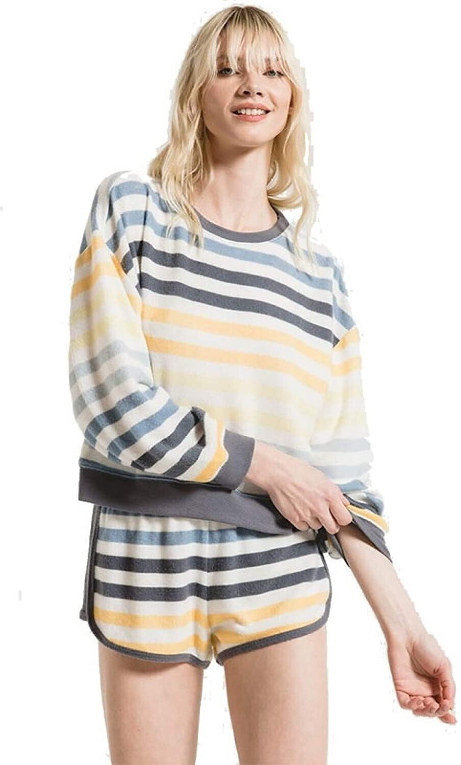 ZS The rainbow stripe pullover