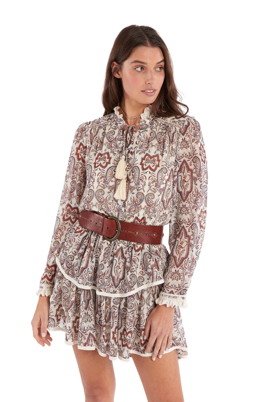 Allison Paisley print blouse