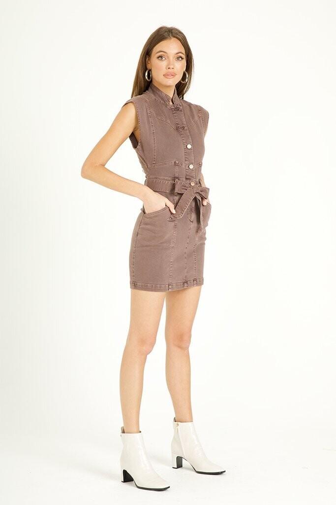 DJ Rayden Twill dress