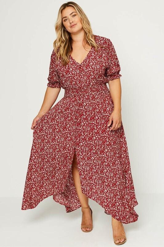 Hayden Floral ruched maxi dress