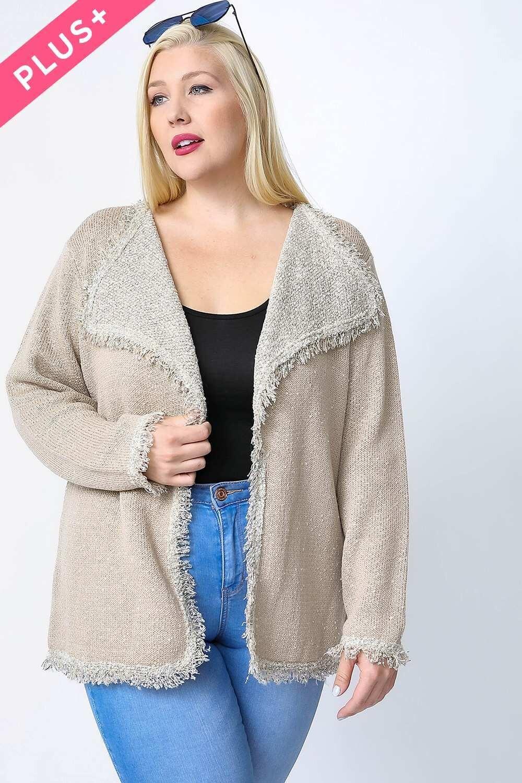 Davi&Dani Structure fringe tweed jacket