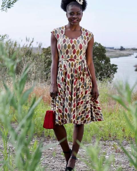 Effies Heart Hedy Dress Hojas print