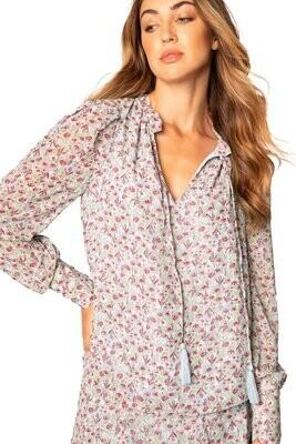 Allison Floral Puff Shoulder blouse