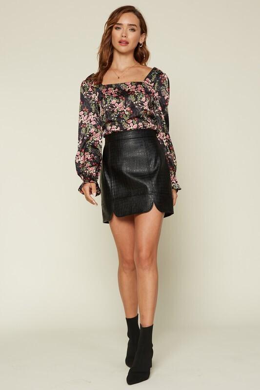 SRB Black snake skirt