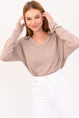 Gilli L/S V-neck collard bodysuit